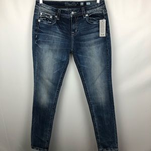 Miss Me Jeans - Miss Me Mid-Rise Easy Skinny Stretch Blue Jeans